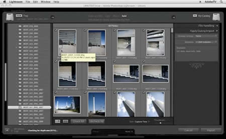 Adobe Lightroom 3 - Fast image importing