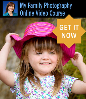 Photographing Your Family Like a Pro online video course. Click for instant access