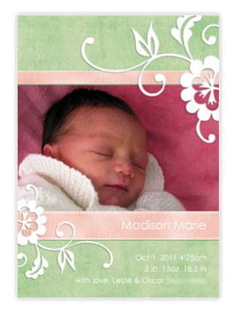 baby card announcements
