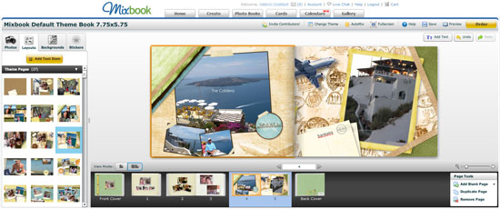 Mixbook Photo Book scrapbooking