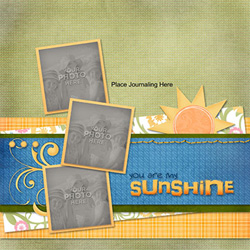 My Memories Suite digital scrapbook template page
