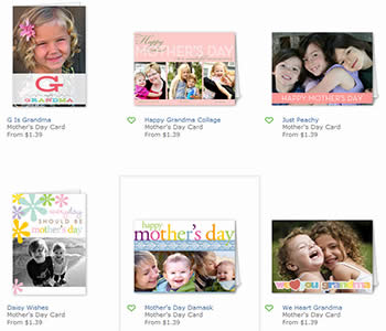Shutterfly offers a variety of card sizes including 5x7 and 5x5