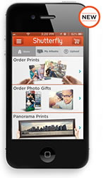 Shutterfly has a mobile app for iPhone and iPad