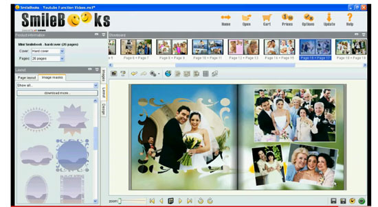 Smilebooks photo books software adding a mask to a photo