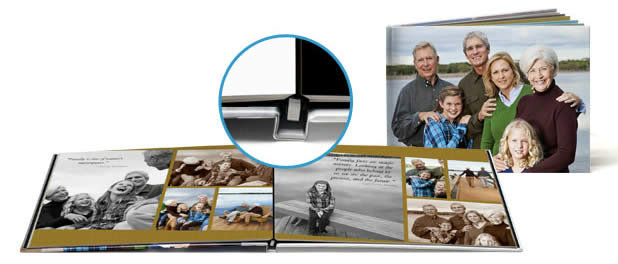 Snapfish offers lay flat photo books